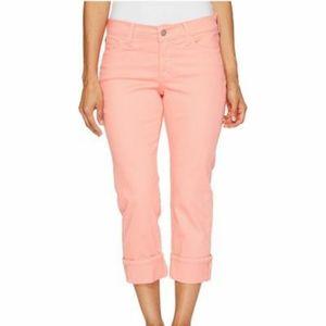 NWT! NYDJ Dayla Wide Cuff Capri Lift Tuck Jeans